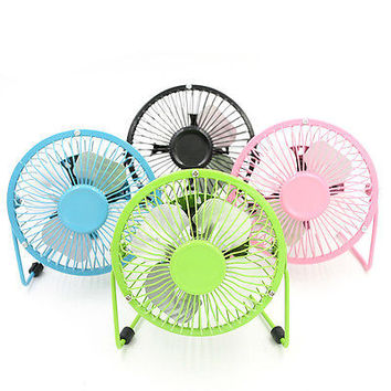 Laptop Computer Notebook Super Mute PC USB Cooler Cooling Desk Mini Fan LSCA .S