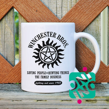 Winchesters Bros Coffee Mug, Ceramic Mug, Unique Coffee Mug Gift Coffee