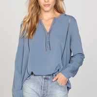 AMUSE SOCIETY - Pretty Young Thing Top | Riviera Blue