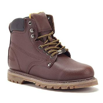 Men's 626 Ankle High Water Resistant Leather Construction Safety Work Boots