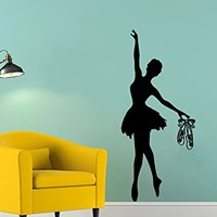 Wall Decal Ballerina Ballet Dancer Gymnastics Dance Studio Vinyl Sticker Decals Ballerina Girl Nursery Decor Bedroom Interior C606