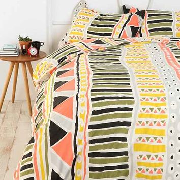 Magical Thinking Bauhaus-Stripe Duvet Cover- Multi