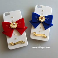 SAILOR MOON BOW white iphone 5 case (select color bow) made by order