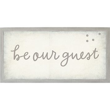 Vintage Be Our Guest Magnet Board