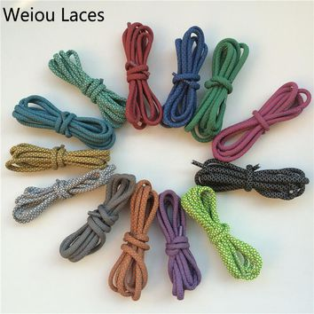 Offical Weiou Brand New Round 3M Polyester Reflective Sports Shoe Laces Safety Visibil