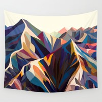 Mountains original Wall Tapestry by margoku