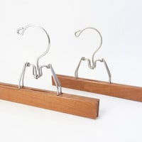 wood hangers vintage wooden clamp display hanger retro mod
