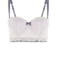 Lilac Under and Lace Longline Bra