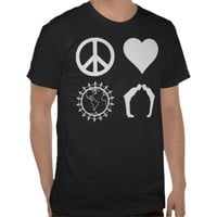 Symbology of PLUR (Dark Shirt) from Zazzle.com