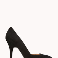 FOREVER 21 Posh Almond Pumps Black 5.5