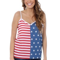 Women's American Flag Cami | Tipsy Elves