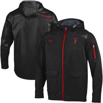 Texas Tech Red Raiders Under Armour Ultimate Sideline Full Zip Performance Jacket – Black