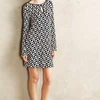 Triangulate Shift Dress by Anthropologie Blue Motif