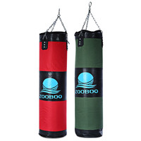 Hot Sale 1Pcs Zooboo 100cm Punching Sand Bags 2 Colors Hollow Boxing Pad Boxing Training Fitness Sandbag With Chain Martial Art