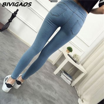 2017 Spring New Basic Skinny Women Jeans Ankle Nine Pants Slim Elastic Denim Pants Leggings Female Cotton Jeggings Jeans Women