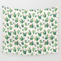 Cactus Drops Wall Tapestry by Tasteful Tatters | Society6