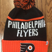 Philadelphia Flyers NHL '47 Linesman Cuff Knit Hat with Pom