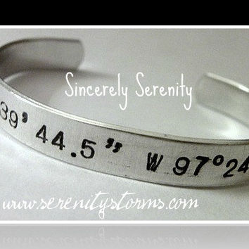 Stamped Location Love your World Custom Silver by Serenitystorms