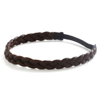 Boho Off the Coif Headband in Dark Brown by ModCloth