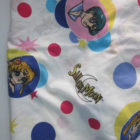 Sailor Moon Anime vintage Fitted twin sheet 1995 N. Takeuchi / Kodansha, TOEI