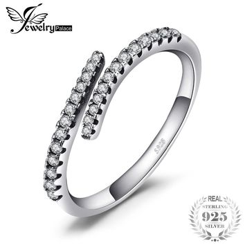 Jewelrypalace 925 Sterling Silver Shooting Star Open Ring Spring Flower Anniversary Gift Women Fashion Jewelry New Hot Selling
