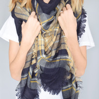 Pretty In Plaid Blanket Scarf
