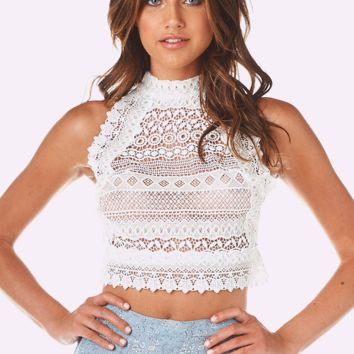 Adelia Lace Crop Top
