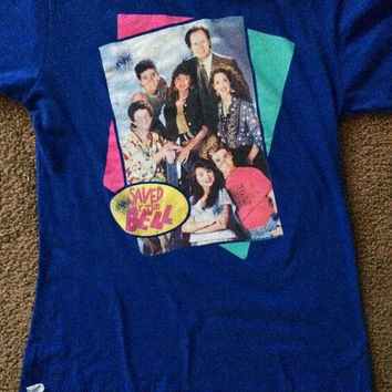 Saved by the Bell Blue Shirt Size Large