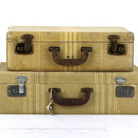 Suitcase, Stack Of Two Suitcases, Suitcase, Old Suitcase Stack, Vintage Suitcase, Stacked Suitcases, Suitcases Luggage