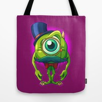 Debonair Mike Tote Bag by Artistic Dyslexia | Society6
