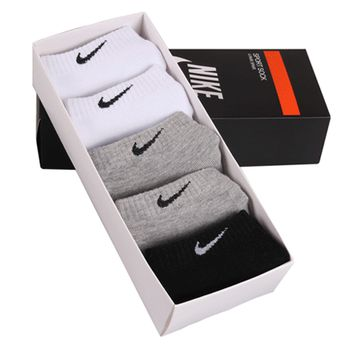 """Nike"" Womens 5 Pairs/Cotton Socks Sport Socks"