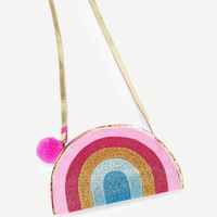 Small Rainbow Pattern Crossbody Bag