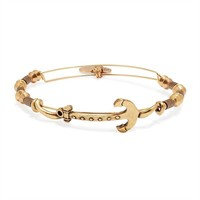 Alex and Ani Anchor Horizontal Bangle - Rafaelian Gold Finish