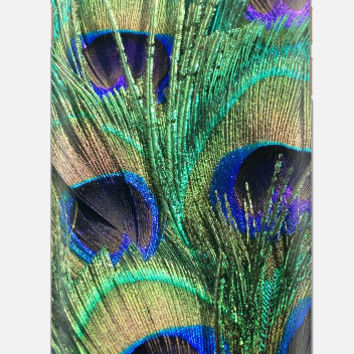 iPhone 6 Case , Peacock Feather iPhone 6 case , Teal Blue iPhone 5c case, iPhone 5c case, multi color cell case, cellcasebythatsnancy