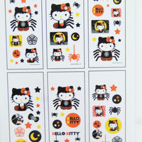 Hello Kitty Halloween stickers for planner kits and stationary sets for organizers, junk journals, filofax, personal planners