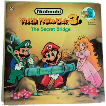 vintage book SUPeR MARiO BrOS 3: The Secret Bridge 1990 Golden Book Super Show