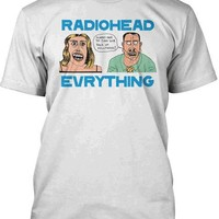 Radiohead – Hollywood Men's Tee In White | Thirteen Vintage