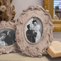 French Antique Inspired Ceramic Picture Frame