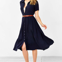 Kimchi Blue Pleated Midi Shirt Dress - Urban Outfitters