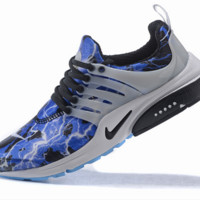 NIKE trend of running shoes casual shoes Blue printing