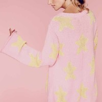 Wildfox Couture Starry Eyed Favorite Sweater in Bel Air Pink