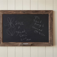 Rustic Rough Wood Framed Chalkboard with Chalk Holder - 36-in