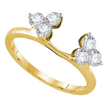 14kt Yellow Gold Women's Round Diamond Ring Guard Wrap Enhancer Band 3/4 Cttw - FREE Shipping (US/CAN)