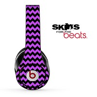 Purple and Black Chevron Pattern Skin for the Beats by Dre Solo, Studio, Wireless, Pro or Mixr