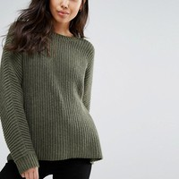Weekday Oversized Rib Crew Neck Jumper at asos.com