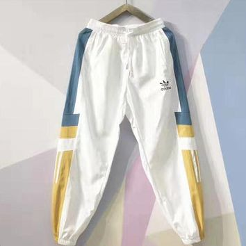Adidas Fashion Women Men Casual Print Sport Pants Trousers Sweatpants White
