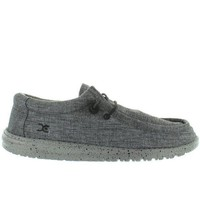 Hey Dude Wally Stretch   Steel Stretch Fabric Athleisure Wallabee