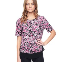 Whisper Pink Bloom Blooming Verbena Embellished Tee by Juicy Couture,