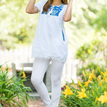 Party Poolside Tunic, White