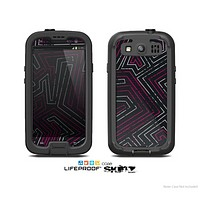 The Pink & Light Blue Abstract Maze Pattern Skin For The Samsung Galaxy S3 LifeProof Case
